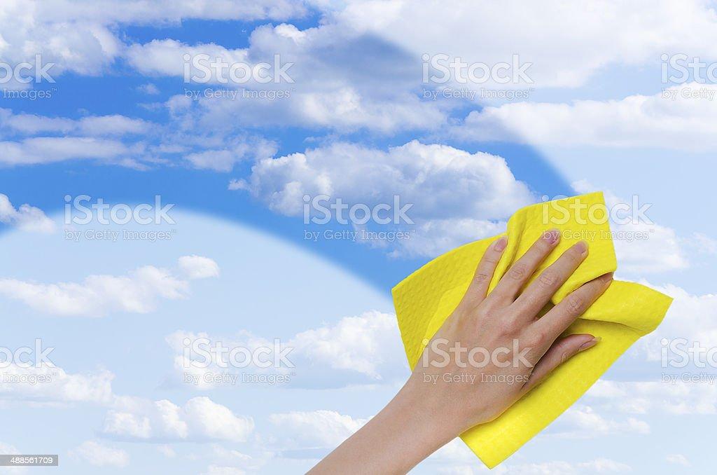 clear blue sky stock photo
