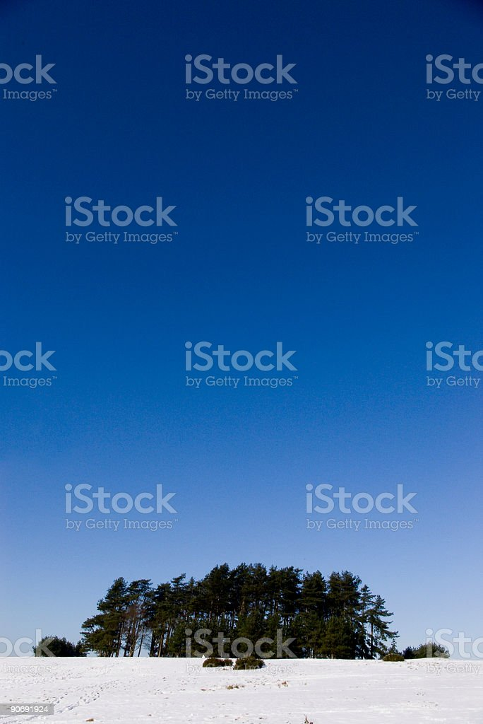 Clear blue sky. royalty-free stock photo