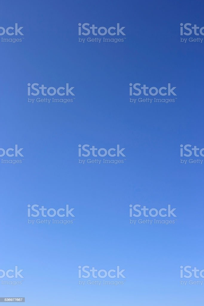 Clear blue sky without clouds. stock photo