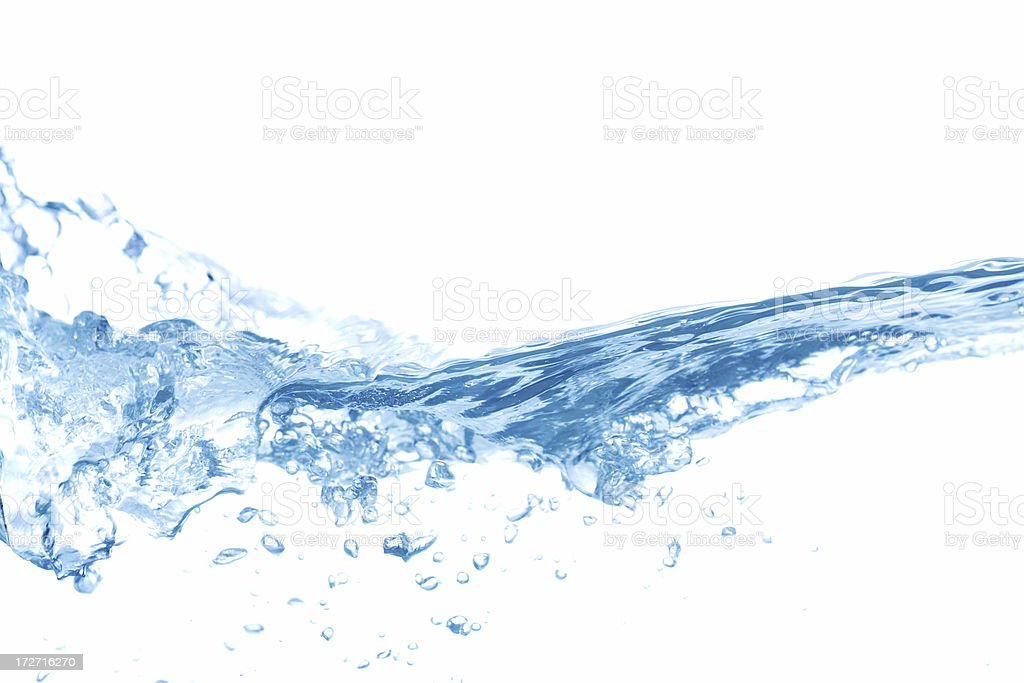 Clear Blue Water Splashing, Ripples and Waves stock photo