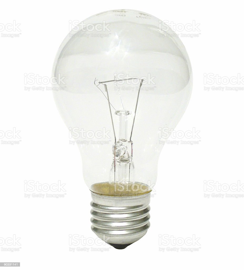 Clear bulb royalty-free stock photo