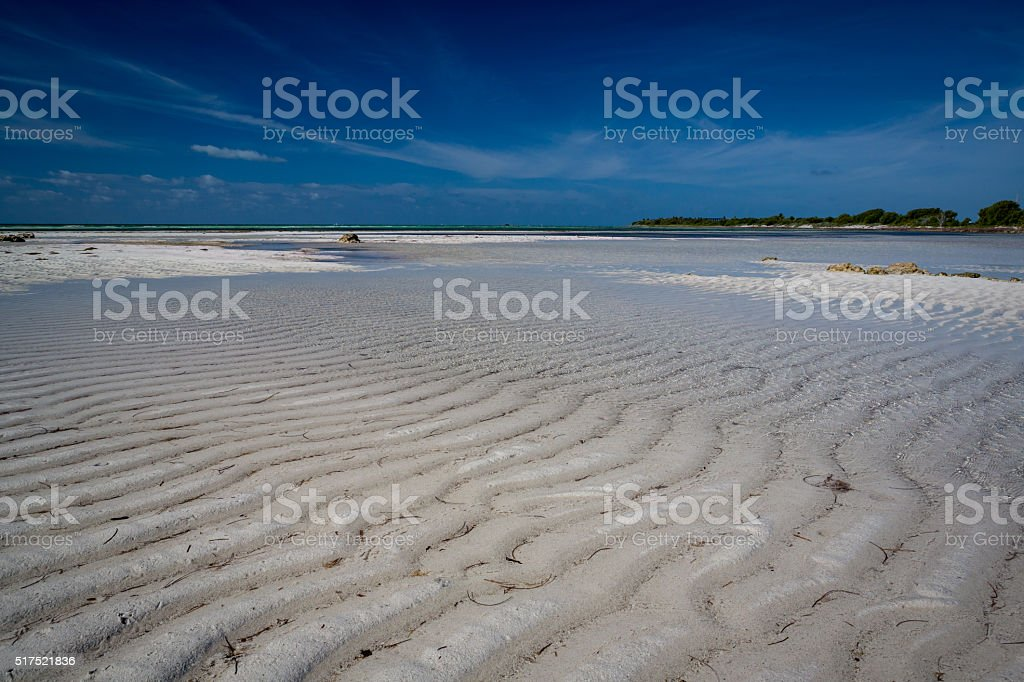 Clear caribbean like water in the Florida Keys stock photo