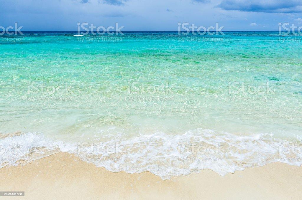 Clear Caribbean Sea stock photo