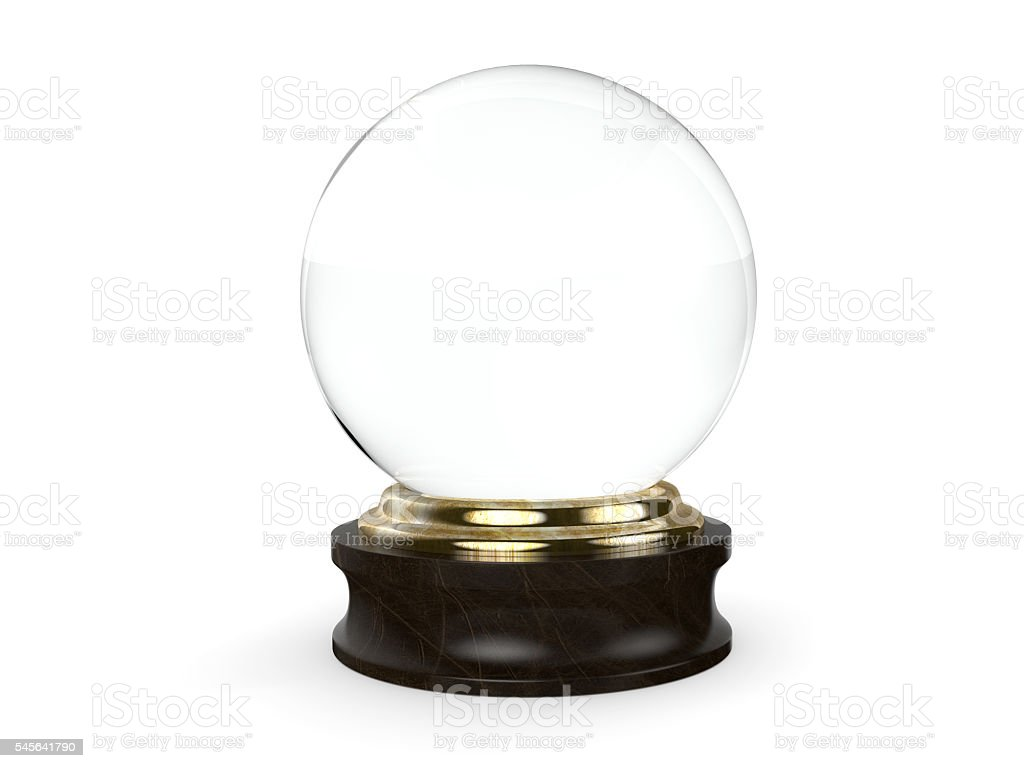 Clear Crystal Ball stock photo