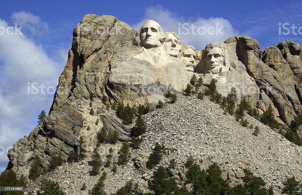 Clear Day at Rushmore royalty-free stock photo