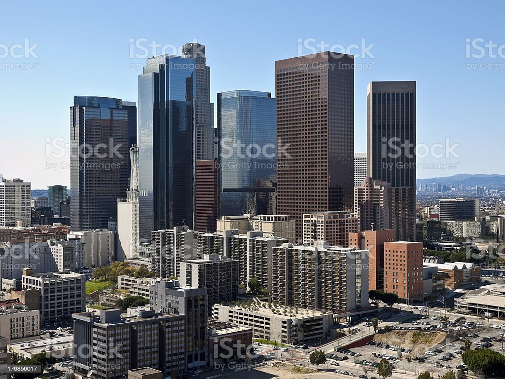Clear Day LA royalty-free stock photo