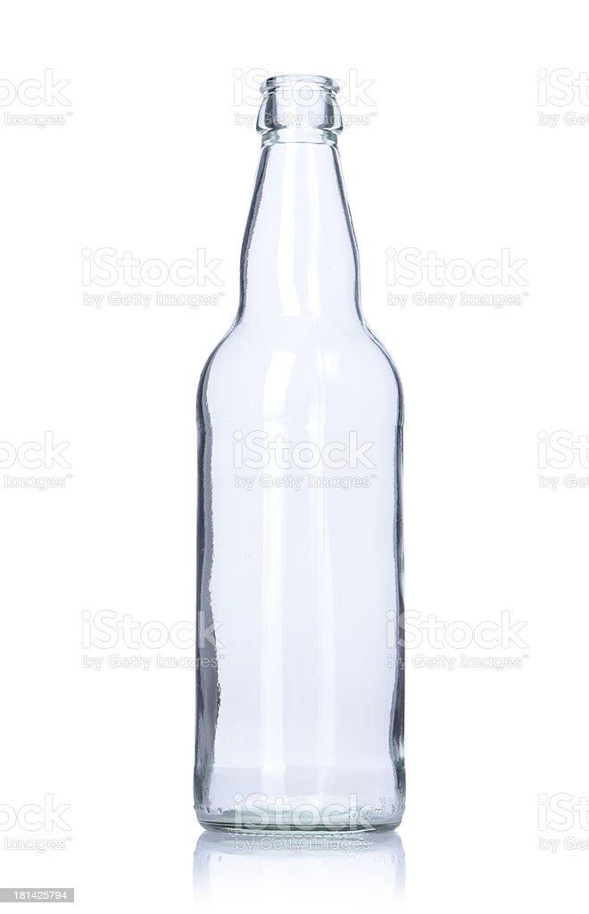 clear empty glass bottle stock photo