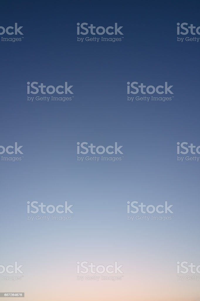 Clear evening sky without clouds. stock photo