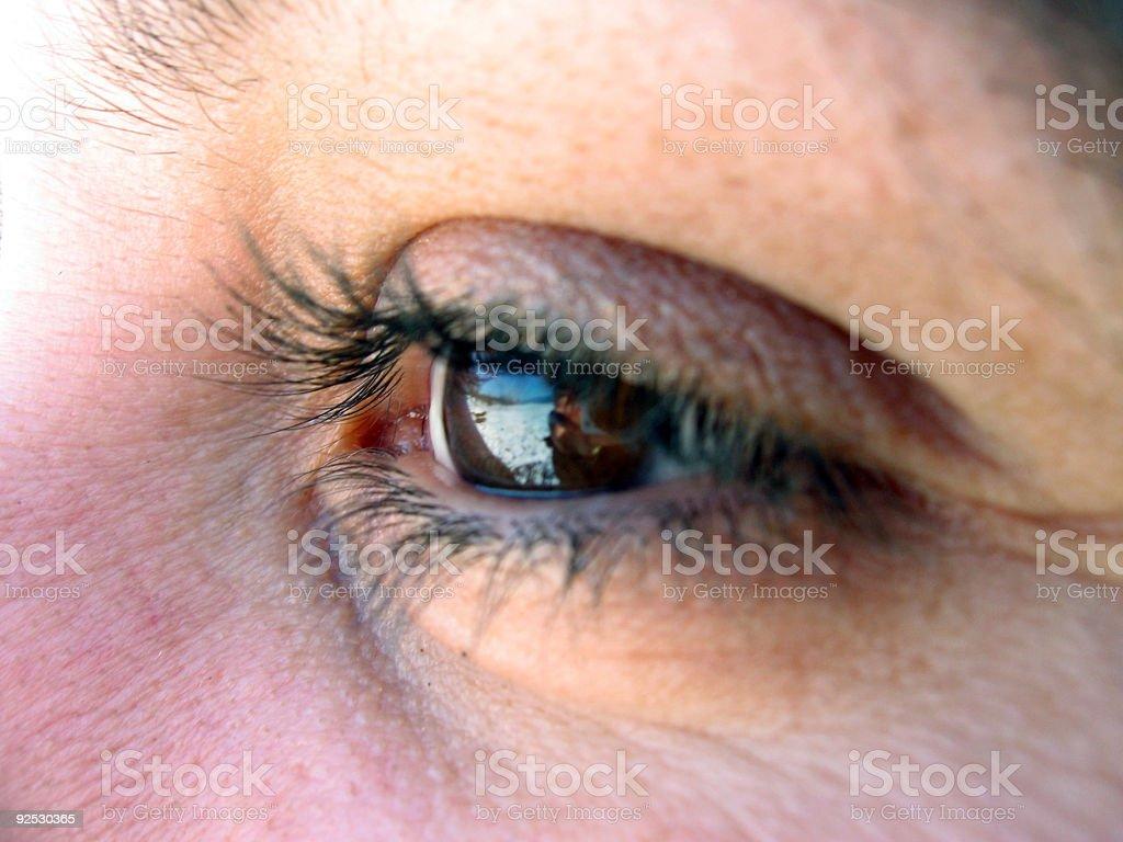 Clear eye royalty-free stock photo