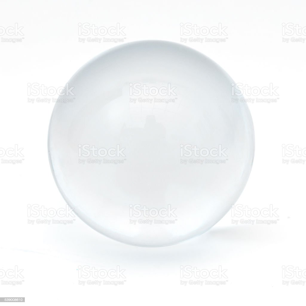 Clear glass ball stock photo