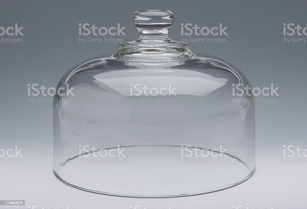 Clear Glass Cake Dome royalty-free stock photo