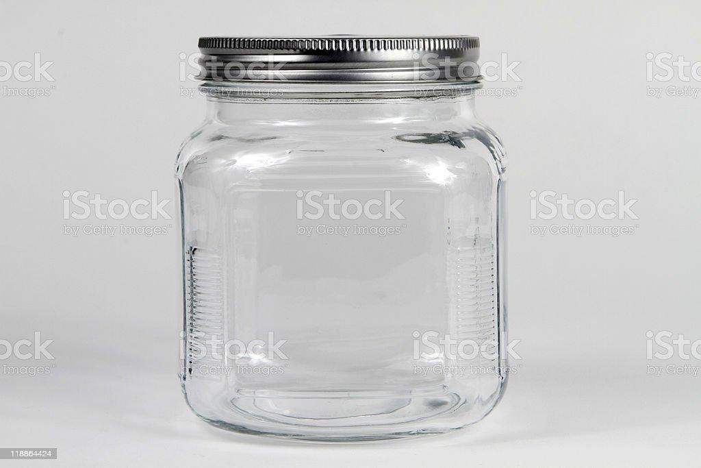 Clear Glass Jar stock photo