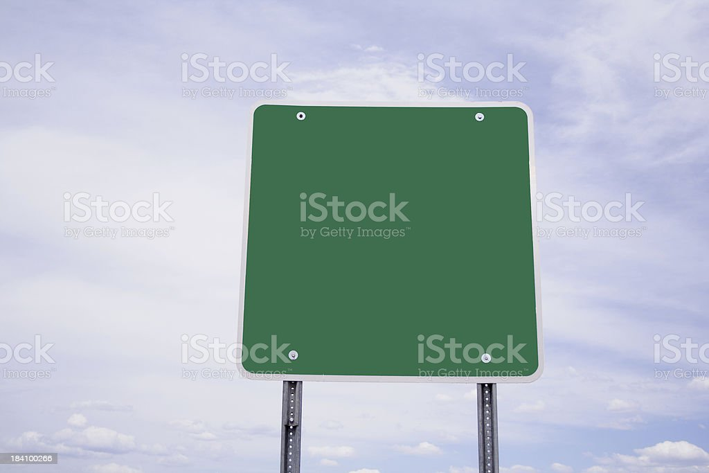 CLear Green Sign stock photo
