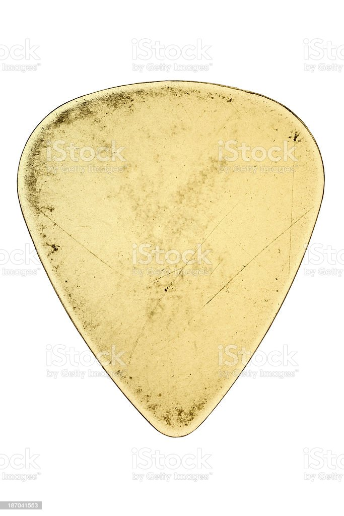Clear Guitar Pick with path stock photo