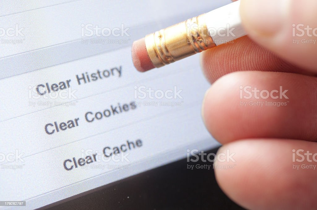 Clear Internet History royalty-free stock photo