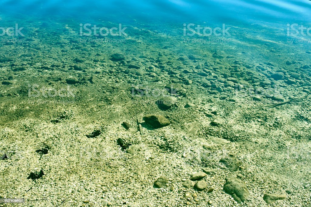 Clear lake water stock photo