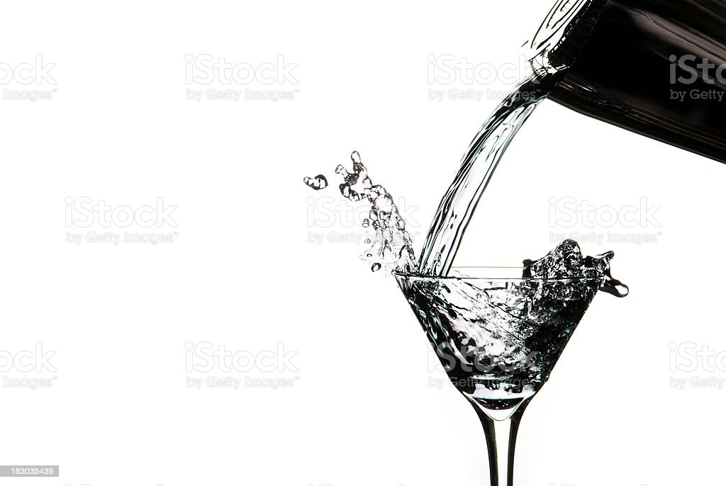 Clear Martini Pour royalty-free stock photo