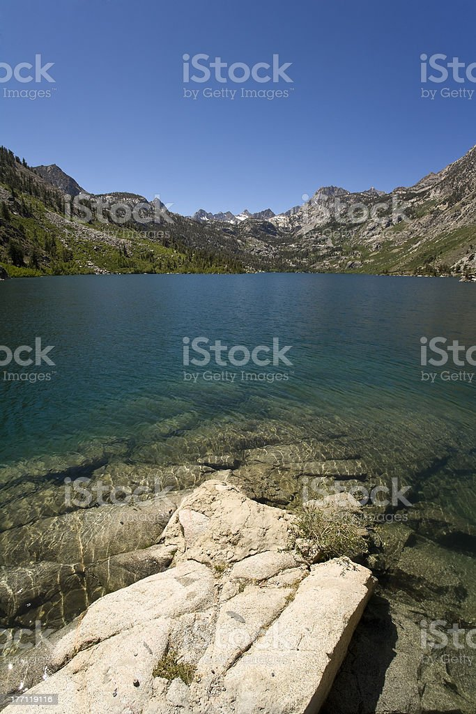 Clear Mountain Lake royalty-free stock photo