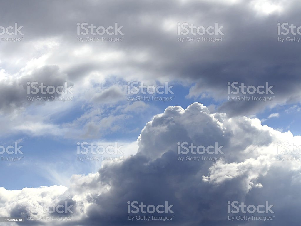 clear mountain sky blue with clouds stock photo