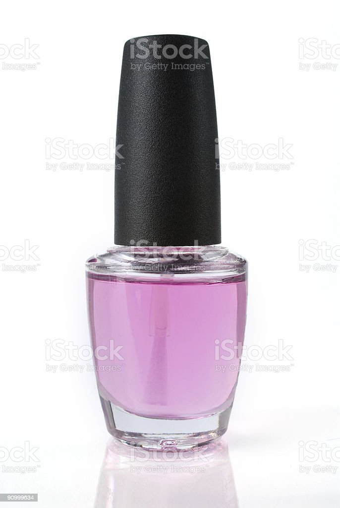 Clear Nail Polish stock photo