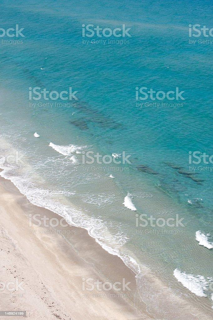 Clear ocean and fun beach royalty-free stock photo