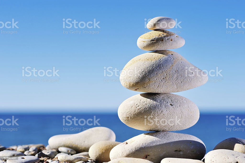 Clear Pebble stock photo