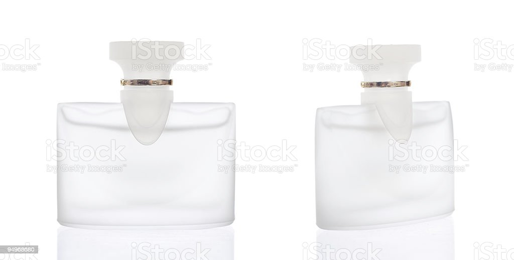 Clear perfume bottles royalty-free stock photo