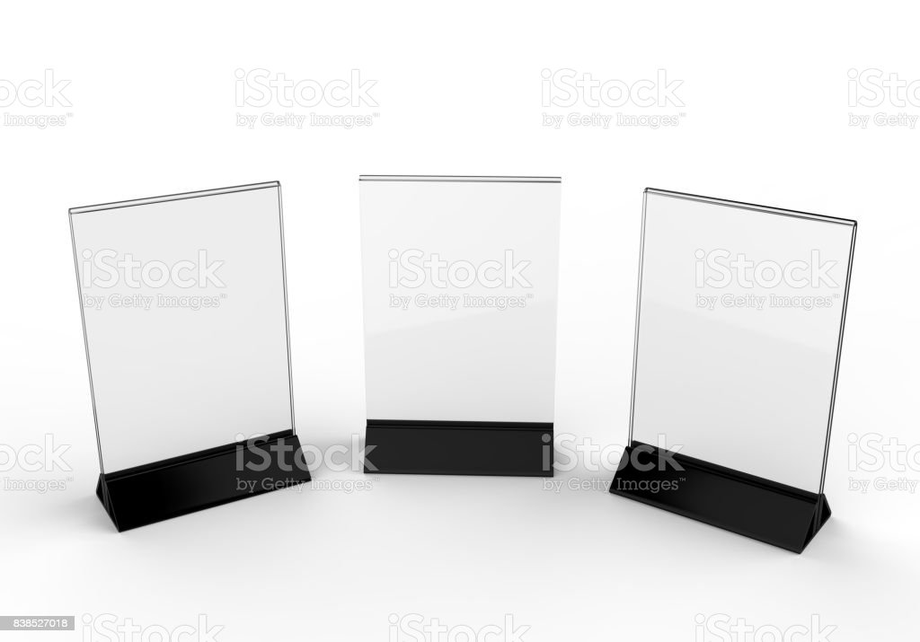 Clear Plastic And Acrylic Table Talkers Promotional Upright Menu - Acrylic menu table tent holders