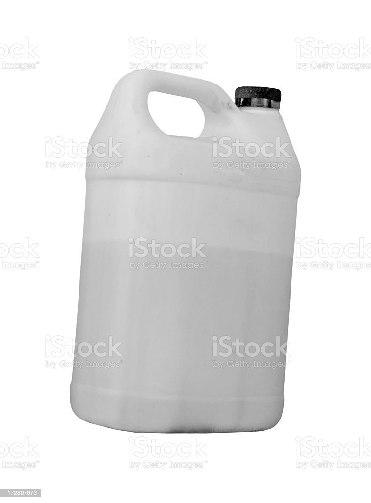 Clear Plastic Gallon Container royalty-free stock photo