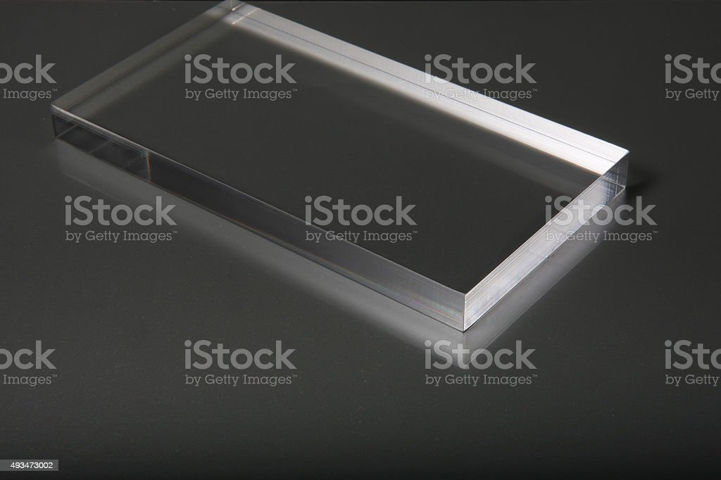 Clear Plexiglass Acrylic stock photo