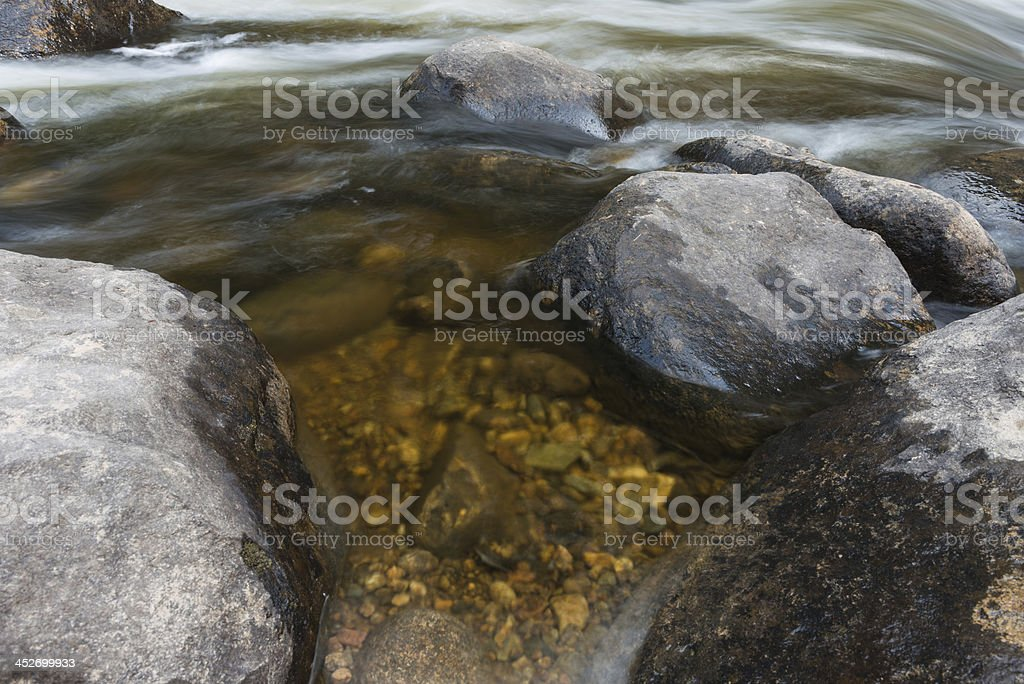 Clear Pool of Water in Mountain Stream stock photo