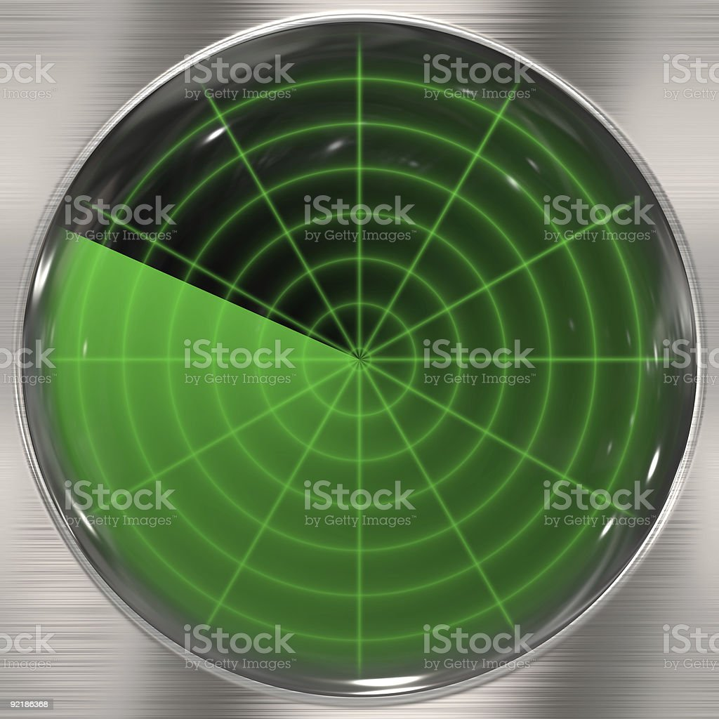 Clear Radar Screen royalty-free stock photo