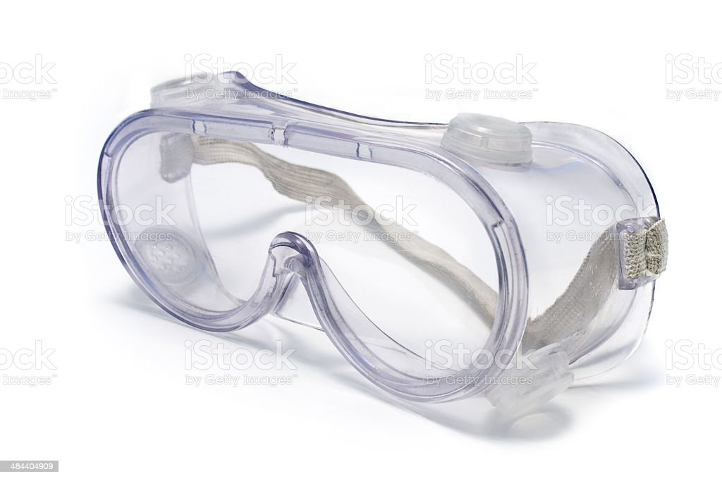 Clear safety glasses stock photo