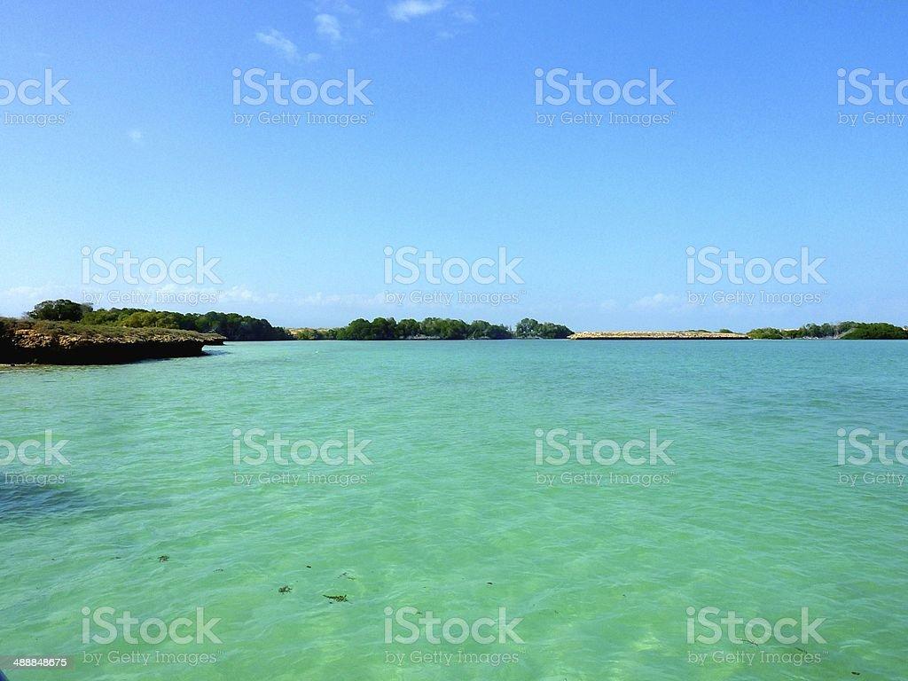 Clear sea in Djibouti royalty-free stock photo
