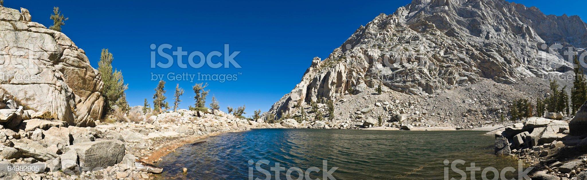 Clear sierra lake panorama royalty-free stock photo