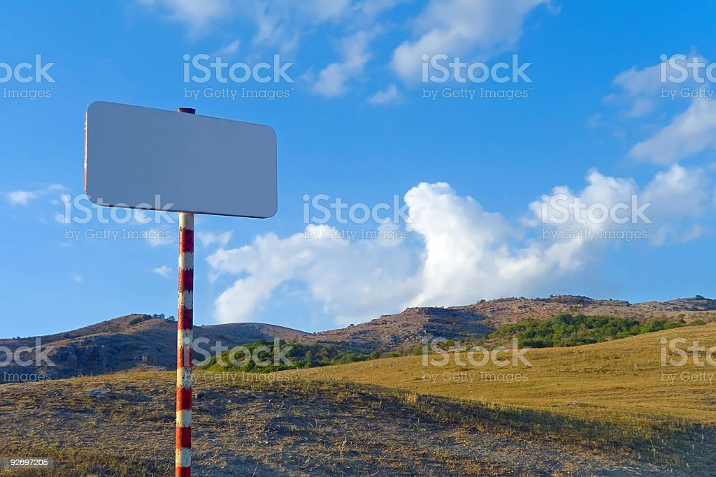 Clear sign in mountains royalty-free stock photo