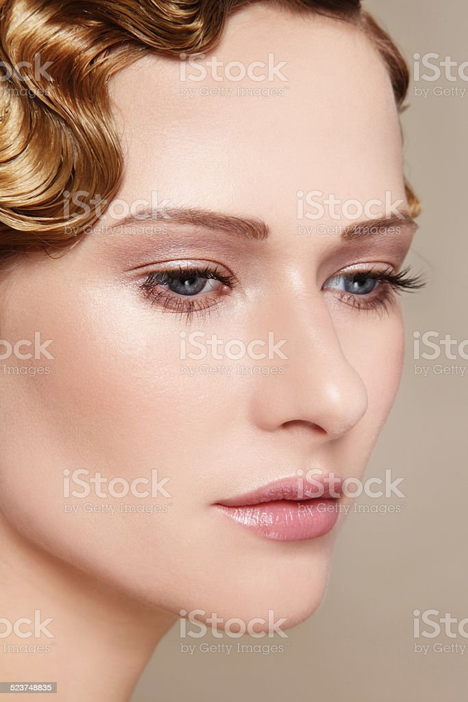 Clear skin stock photo