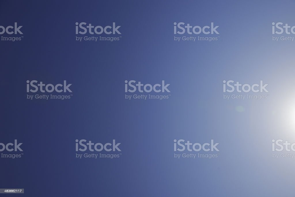 Clear sky and sunbeam with copy space stock photo