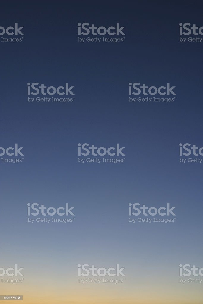 Clear Sky At Dusk Background Gradient royalty-free stock photo