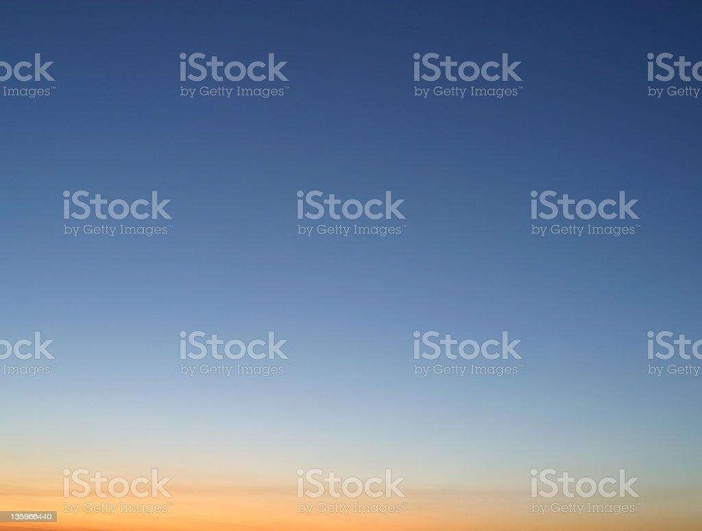 Clear Sky At Dusk - Horizontal royalty-free stock photo