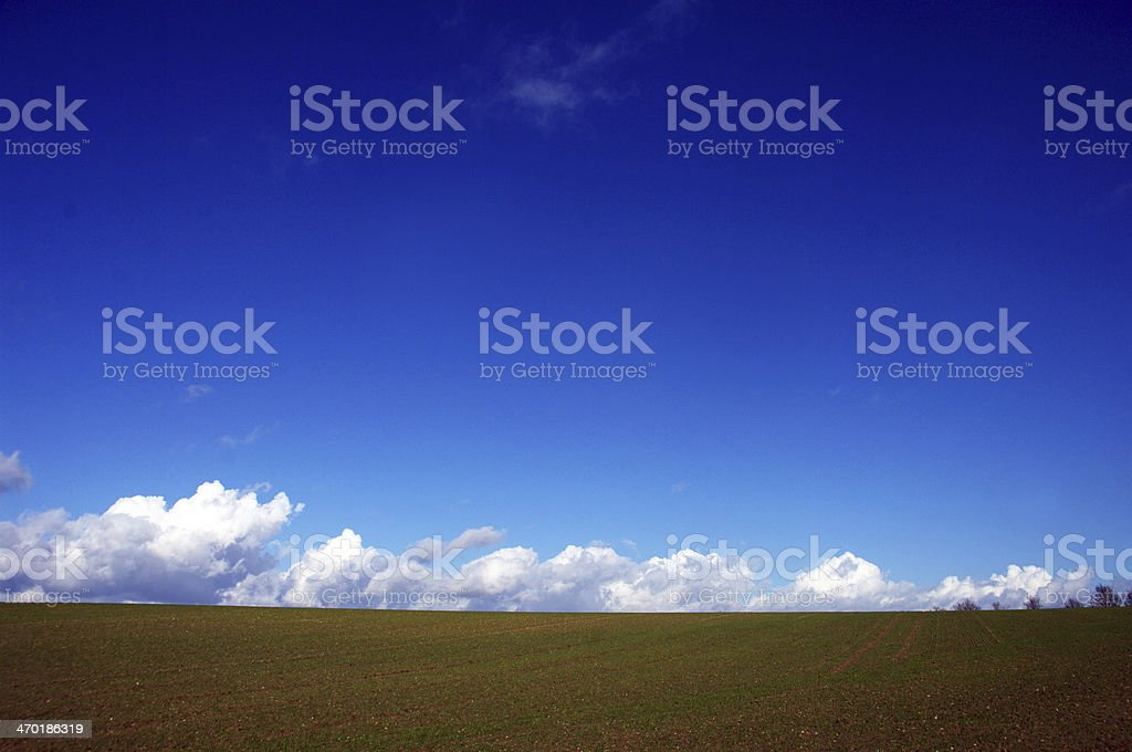 Clear sky with clouds royalty-free stock photo