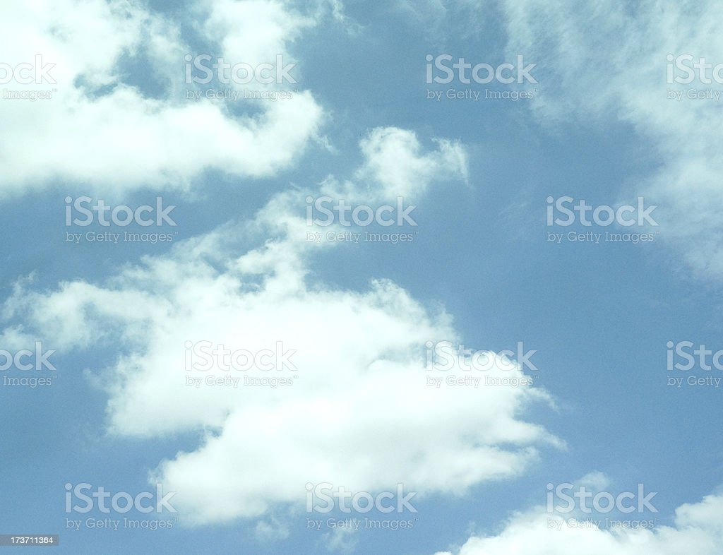 clear sky with white cloud royalty-free stock photo