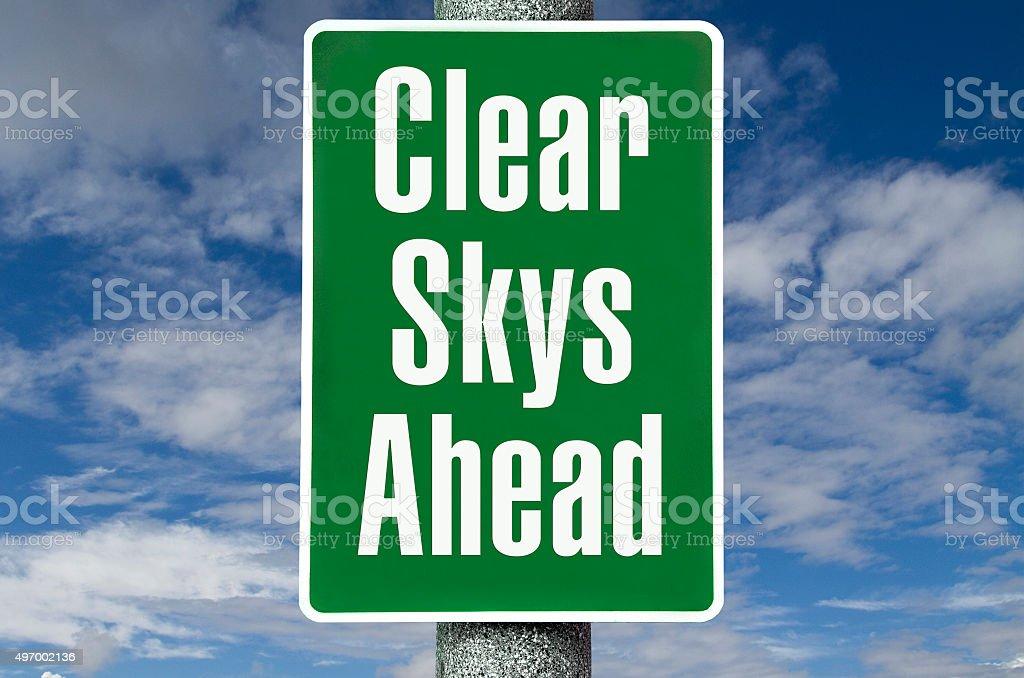 Clear Skys Ahead stock photo