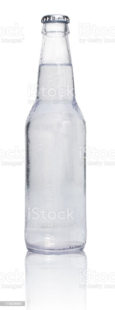 clear soda with reflection royalty-free stock photo