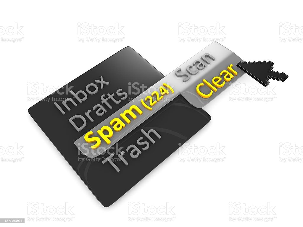 Clear spam mail stock photo