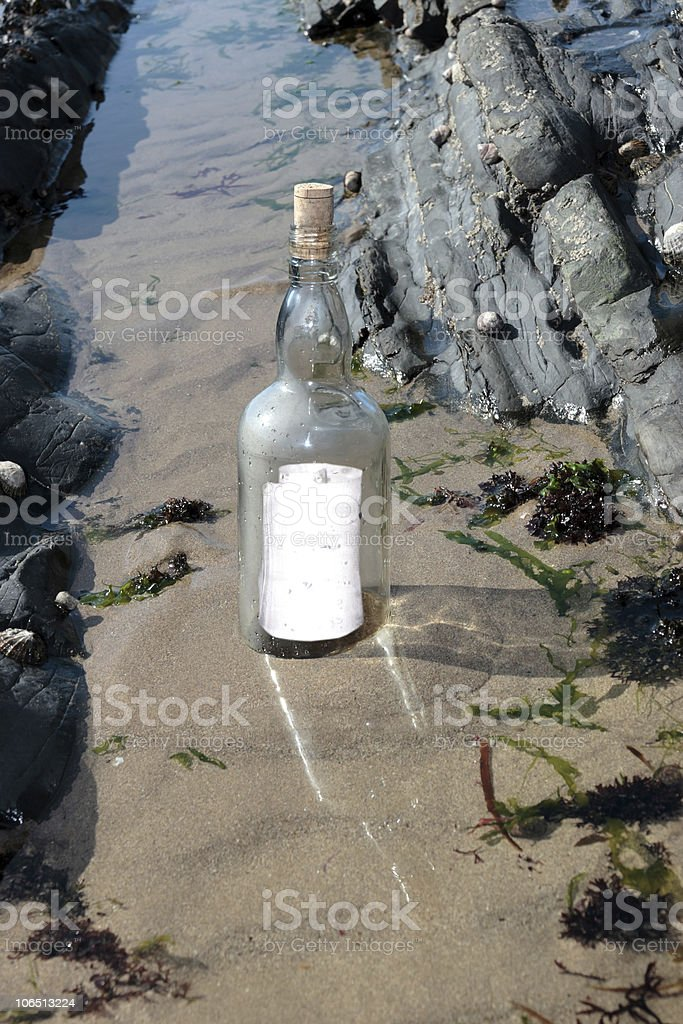 clear standing bottle royalty-free stock photo
