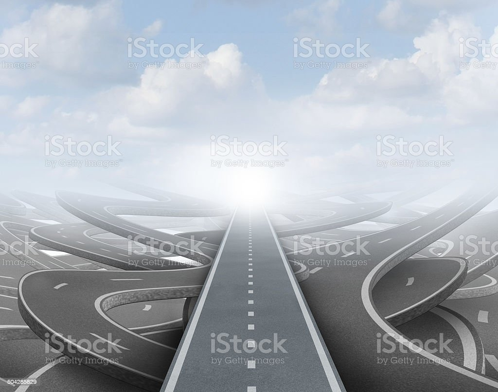 Clear Strategy stock photo