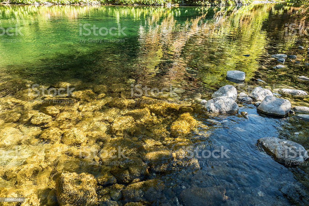 Clear stream background stock photo