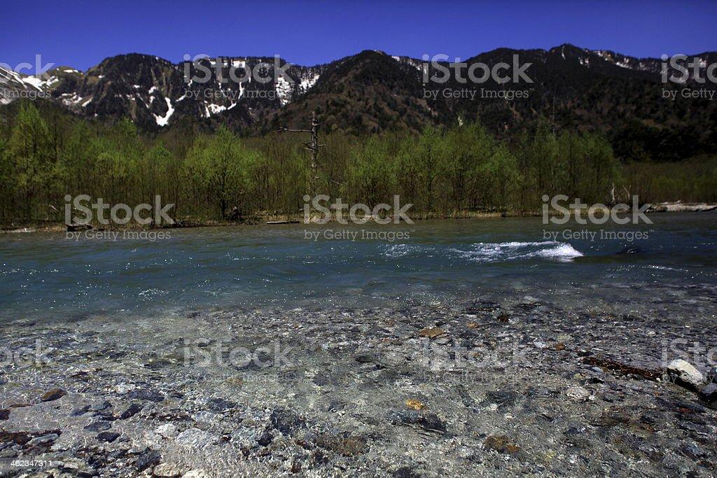 Clear stream stock photo