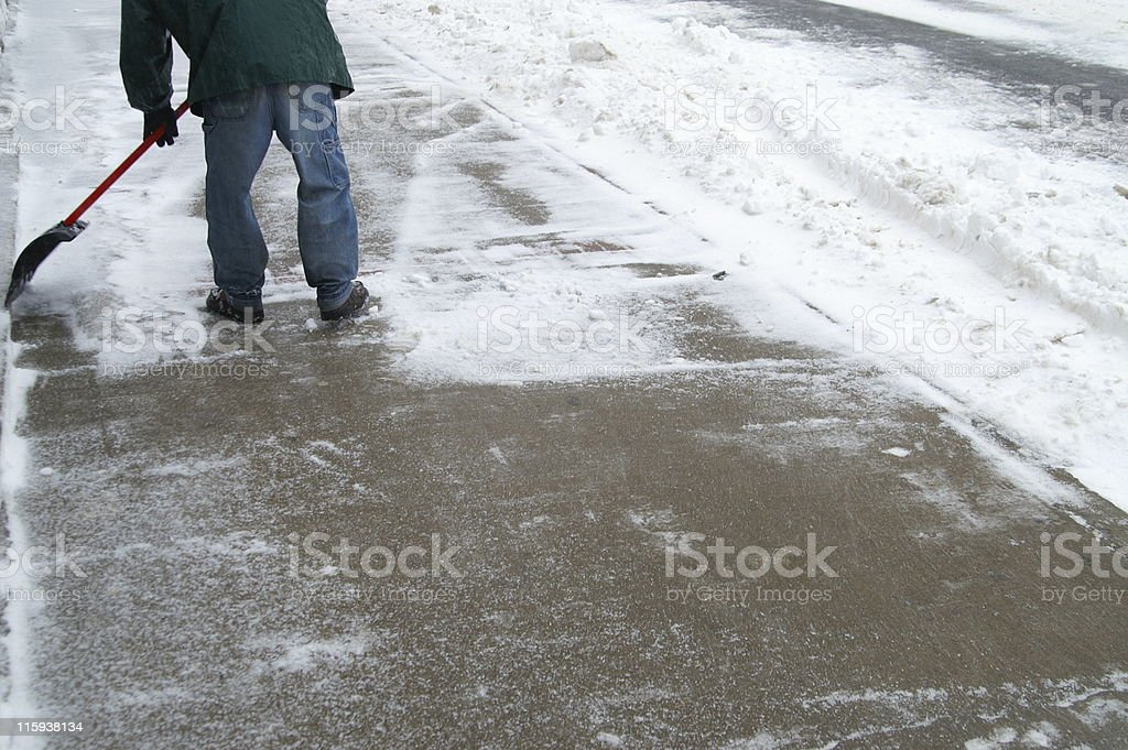 Clear the sidewalk royalty-free stock photo